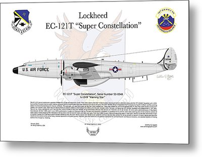 Ec-121t Warning Star Metal Print
