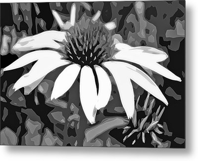 Metal Print featuring the photograph Echinacea - Digital Art by Ellen Tully