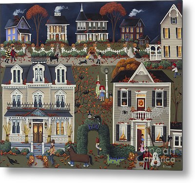 Echoes Of Trick Or Treat Metal Print by Catherine Holman