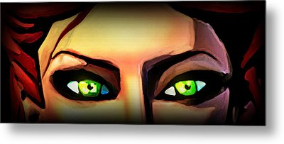 Metal Print featuring the painting Echo's Eyes by Persephone Artworks