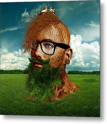 Eco Hipster Metal Print by Marian Voicu