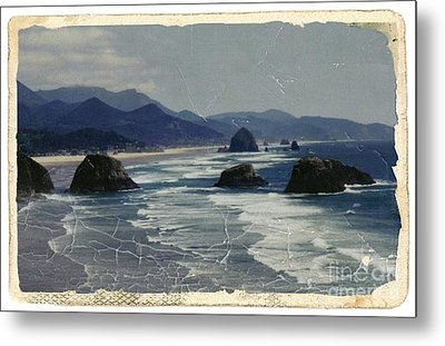 Ecola Sea Stacks Metal Print
