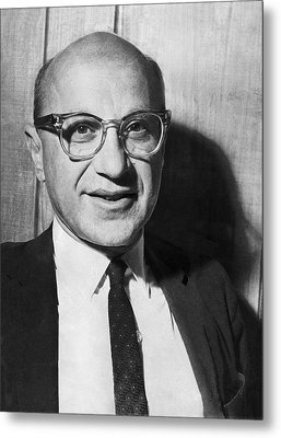 Economist Milton Friedman Metal Print