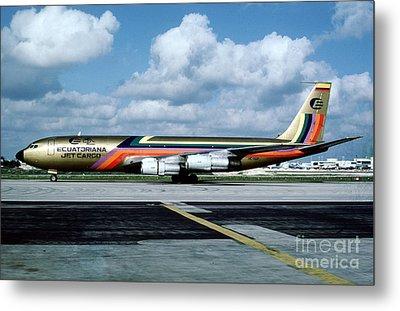 Ecuatoriana Jet Cargo Boeing 707-321c Hc-bgp Metal Print
