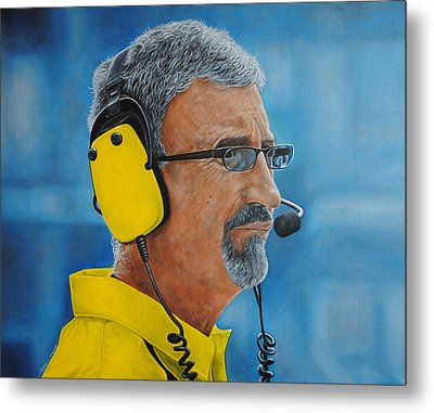 Metal Print featuring the painting Eddie Jordan by David Dunne