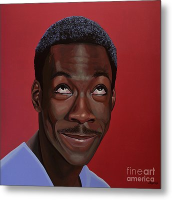 Eddie Murphy Painting Metal Print by Paul Meijering