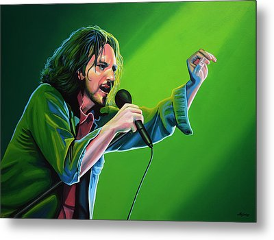Eddie Vedder Of Pearl Jam Metal Print by Paul Meijering