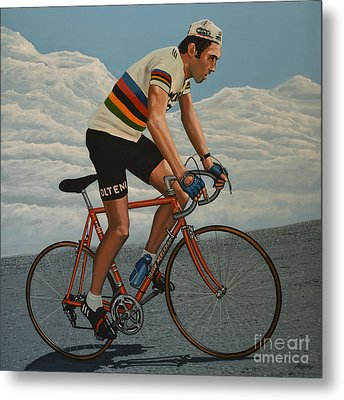 Eddy Merckx Metal Print by Paul Meijering