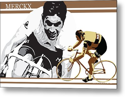 Eddy Merckx Metal Print by Sassan Filsoof
