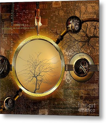 Eden Is Lost Metal Print by Franziskus Pfleghart