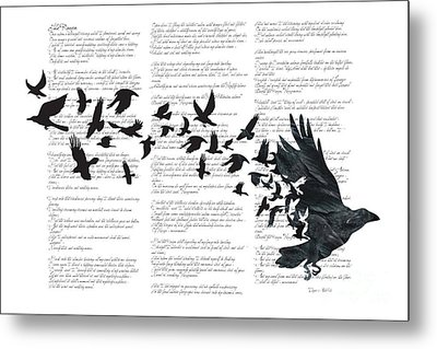 Edgar Alan Crow Metal Print