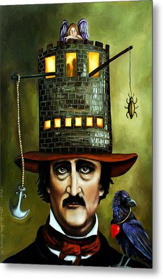 Edgar Allan Poe Edit 2 Metal Print