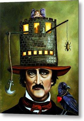 Edgar Allan Poe Edit 3 Metal Print