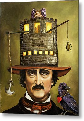 Edgar Allan Poe Metal Print by Leah Saulnier The Painting Maniac