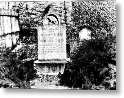 Edgar Allen Poe Grave Site Baltimore Metal Print by Bill Cannon