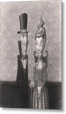 Edgar And Larissa Metal Print by Richard Moore