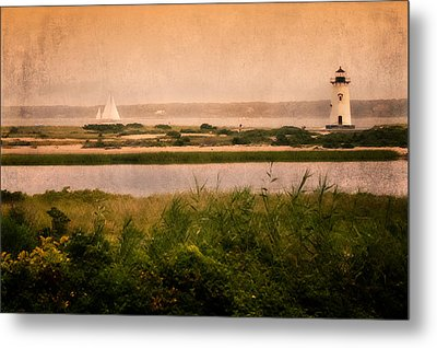 Edgartown Lighthouse Metal Print by Bill Wakeley