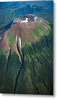 Edgecumbe Volcano Metal Print by Roger Clifford