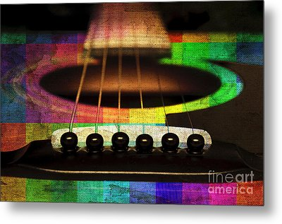Edgy Abstract Eclectic Guitar 21 Metal Print