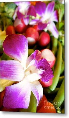 Edible Flowers Metal Print by Jacqueline Athmann