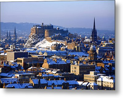 Metal Print featuring the photograph Edinburgh Castle Winter by Craig B