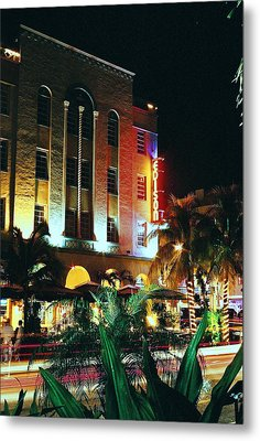 Metal Print featuring the photograph Edison Hotel Film Image by Gary Dean Mercer Clark
