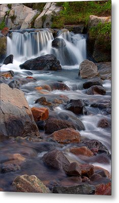 Edith Creek Mt Rainier National Park Metal Print by Bob Noble Photography