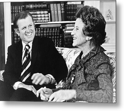 Edward And Rose Kennedy Metal Print by Underwood Archives