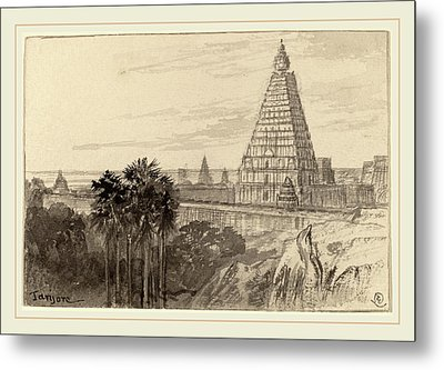 Edward Lear, Tanjore, British, 1812-1888 Metal Print by Litz Collection