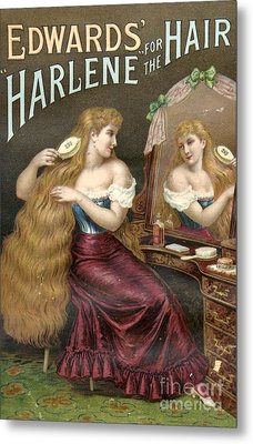 Edwards Harlene For Hair 1890s Uk Hair Metal Print by The Advertising Archives