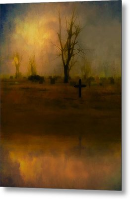 Eerie Reflection Metal Print