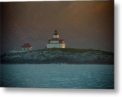 Egg Rock Island Lighthouse Metal Print