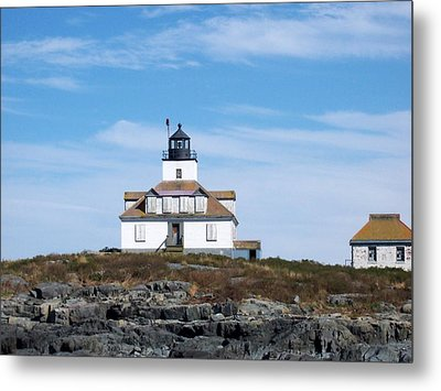 Egg Rock Lighthouse Metal Print by Catherine Gagne