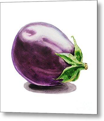 Eggplant  Metal Print by Irina Sztukowski
