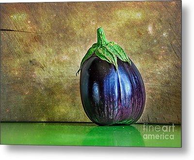 Eggplant Metal Print by Kaye Menner