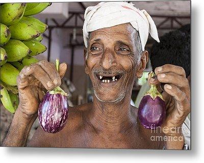 Eggplant Metal Print by Sonny Marcyan