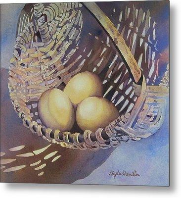 Eggs In A Basket II Metal Print