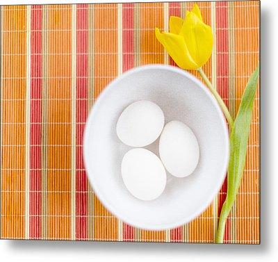 Eggs Metal Print by Rebecca Cozart