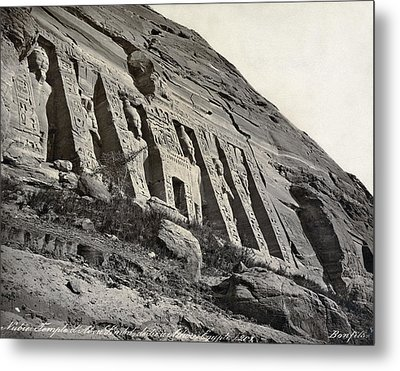 Egypt Abu Simbel Temple Metal Print