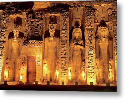 Egypt, Abu Simbel, The Temple Of Hathor Metal Print by Miva Stock