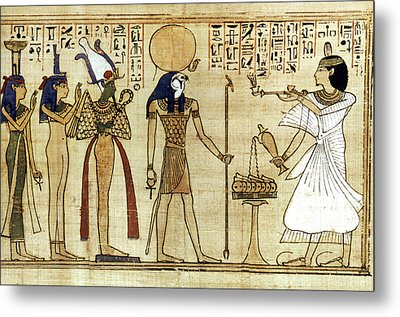 Egypt Book Of The Dead Metal Print by Granger