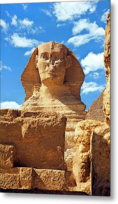Egypt, Cairo, Giza, The Sphinx Metal Print