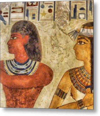 Metal Print featuring the painting Egypt Pharaohs by Georgi Dimitrov
