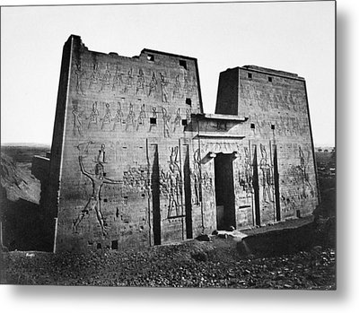 Egypt Temple Of Horus Metal Print
