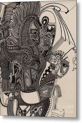Egypt Walking Metal Print by Michael Kulick