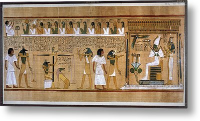 Egypt Weighing Of Souls Metal Print by Granger