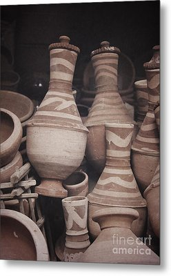 Metal Print featuring the photograph Egyptian Hand Made Traditional Bowl Of Cold Water by Mohamed Elkhamisy