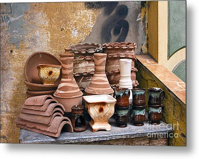 Egyptian Potter Metal Print by Mohamed Elkhamisy