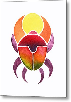 Egyptian Scarab Metal Print