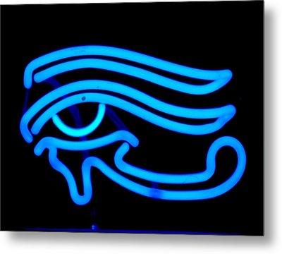 Egyptian Secret Eye Metal Print by Pacifico Palumbo